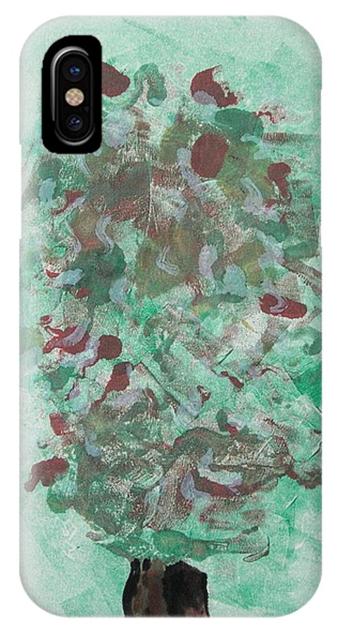 Monoprint IPhone X Case featuring the mixed media Spring Interlude by Cori Solomon