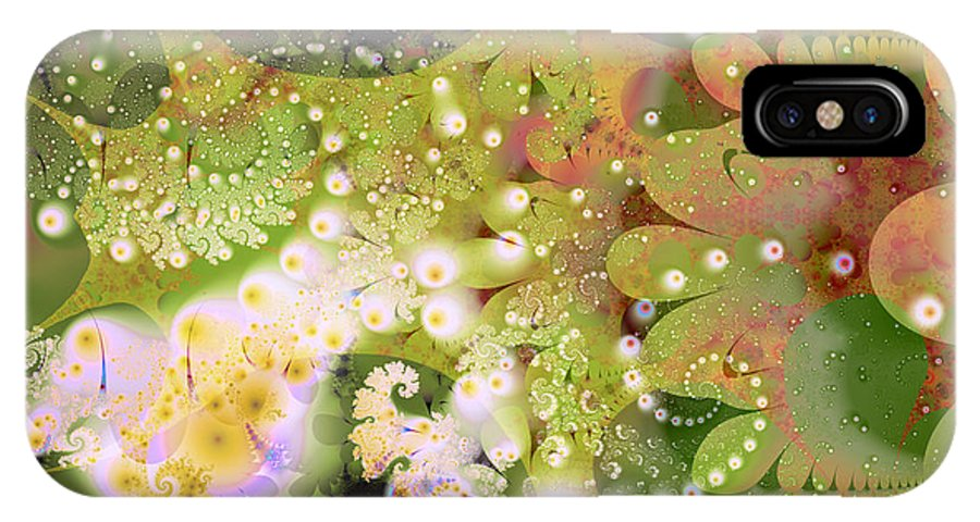 Fractal IPhone X / XS Case featuring the digital art Spring by Katherine Fishwick