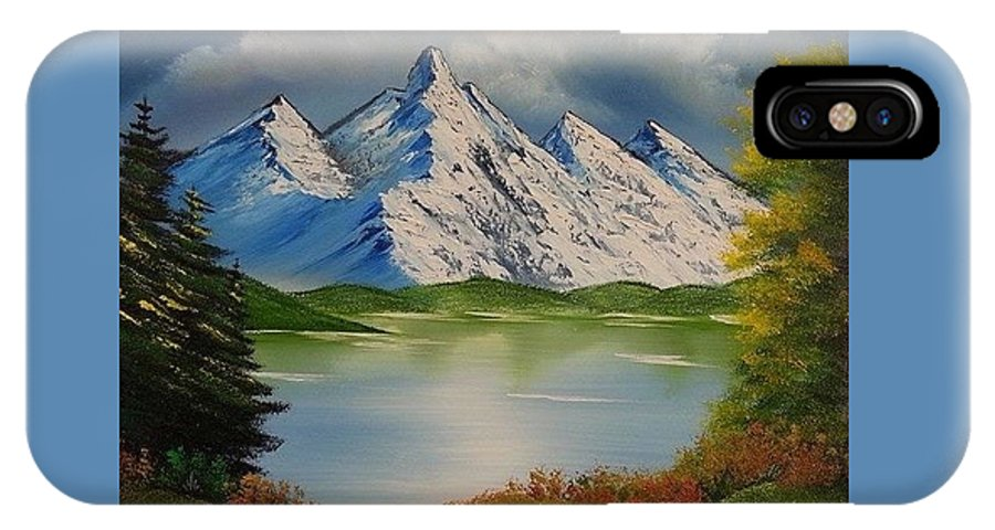 Spring Lake IPhone X Case featuring the painting Spring Lake by Nadine Westerveld