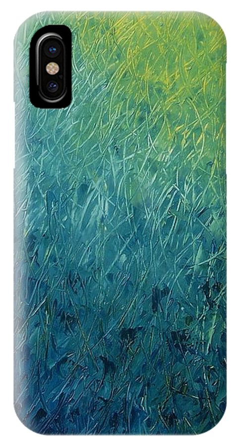 Abstract IPhone Case featuring the painting Spring Rain by Emily Young