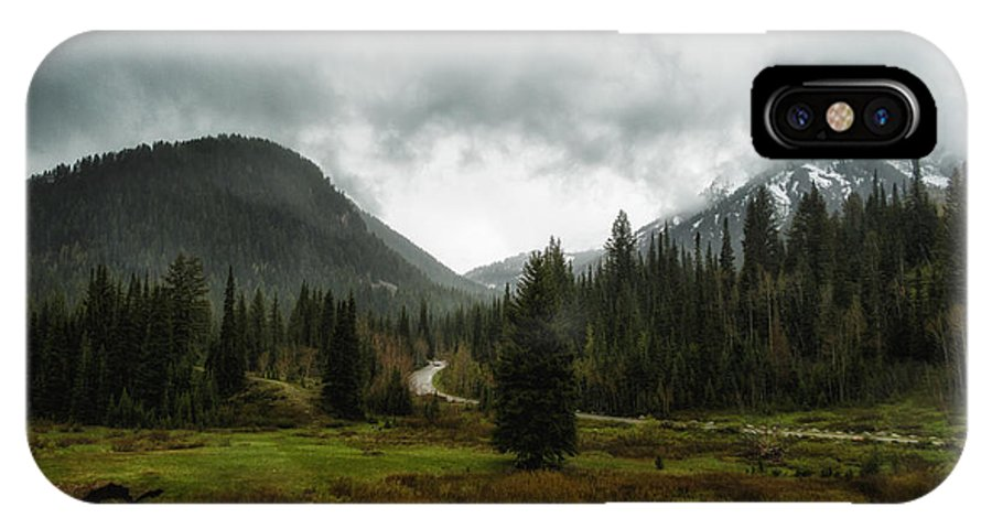 Usa IPhone X Case featuring the photograph Spring Rain In The Wasatch by Mitch Johanson
