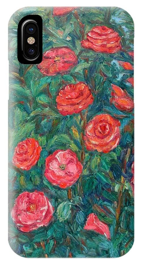 Rose IPhone X Case featuring the painting Spring Roses by Kendall Kessler