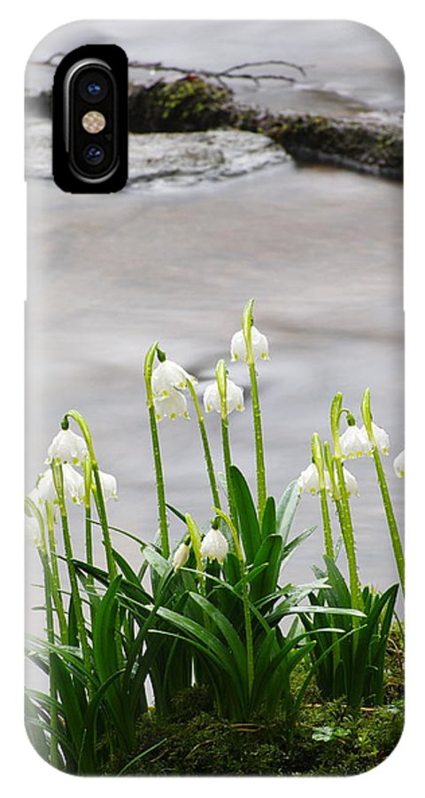 Spring Snowflake IPhone X Case featuring the photograph Spring Snowflake by Otto Hauck
