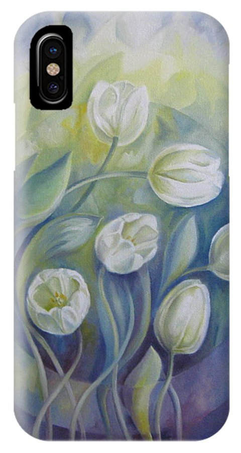 Flowers IPhone Case featuring the painting Spring Symphony by Elena Oleniuc