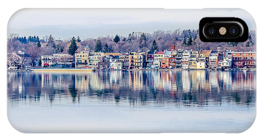 Skaneateles IPhone X Case featuring the photograph Spring Time Waterfront by Robert Green