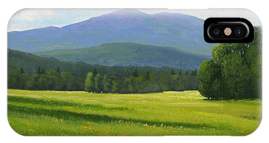 Landscape IPhone Case featuring the painting Spring Vista by Frank Wilson
