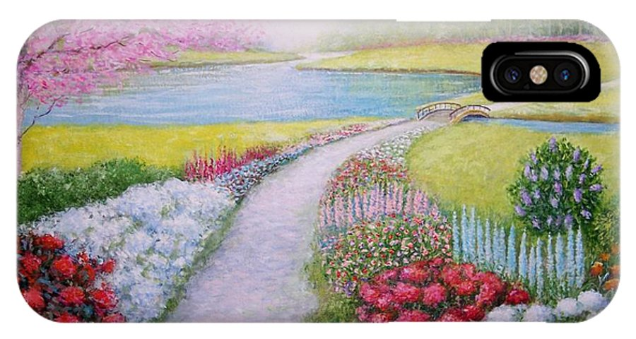 Landscape IPhone X Case featuring the painting Spring by William H RaVell III