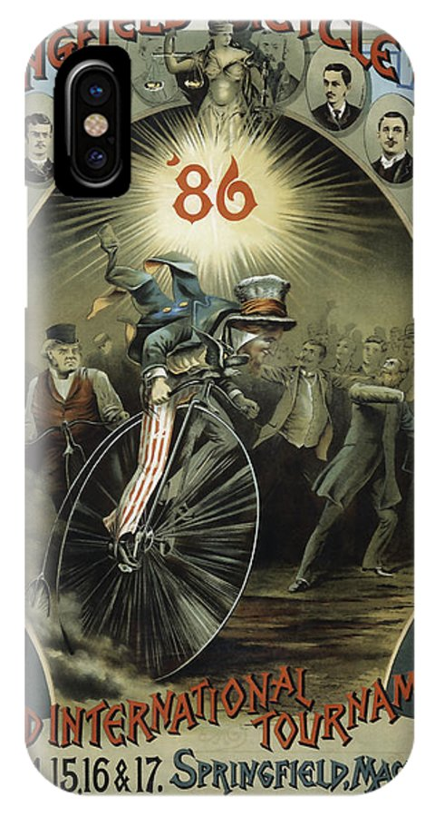 Bicycle IPhone X Case featuring the photograph Springfield Bicycle Club 1886 by Daniel Hagerman
