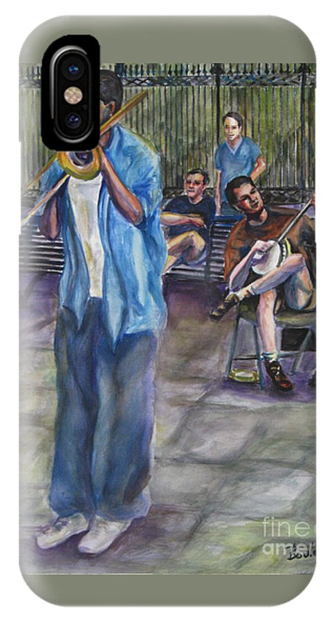 New Orleans IPhone X Case featuring the painting Square Slide by Beverly Boulet