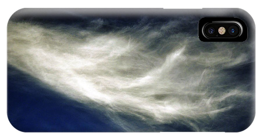 Clay IPhone X Case featuring the photograph Squid Cloud by Clayton Bruster