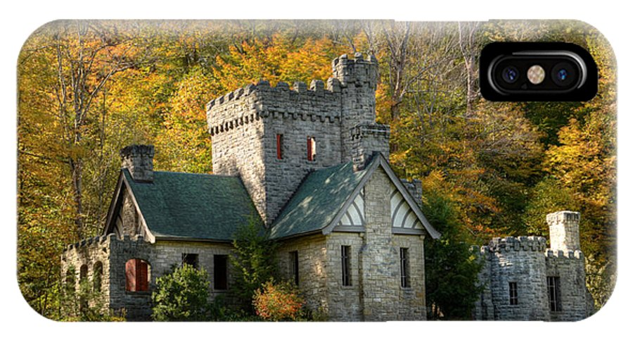 Sqiures IPhone X Case featuring the photograph Squires Castle by Ann Bridges