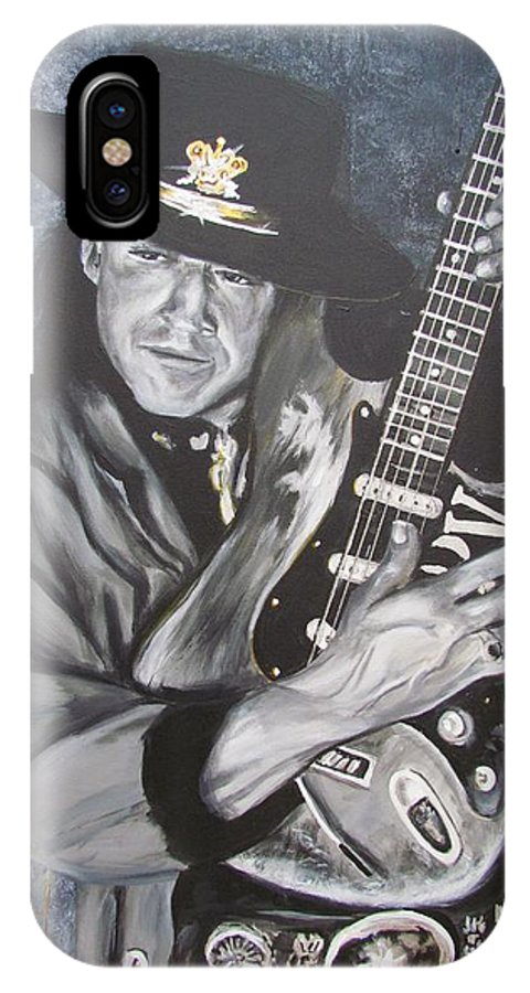 Stevie Ray Vaughan IPhone X Case featuring the painting SRV - Stevie Ray Vaughan by Eric Dee