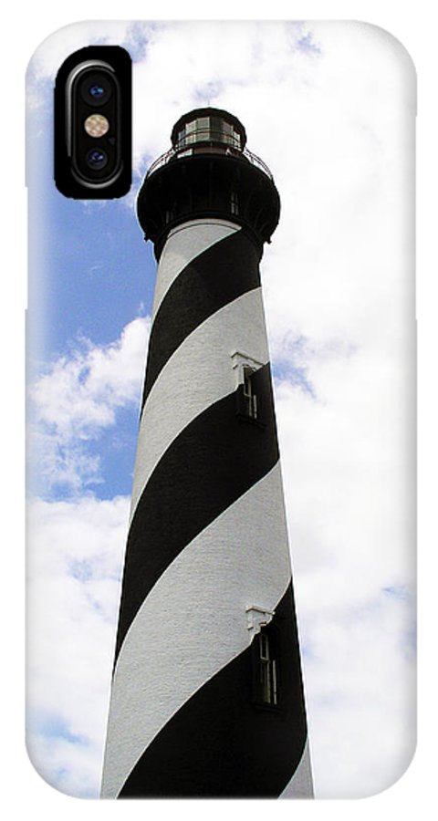 Lighthouse; Light; House; Keeper; St. Augustine; Florida; Coast; Shine; Fog; Storms; U.s. Coast Guar IPhone X Case featuring the photograph St. Augustine Light by Allan Hughes