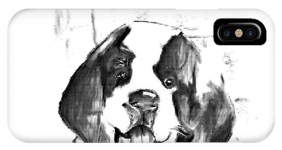 St. Bernmard IPhone X Case featuring the digital art St. Bernard Puppy 2 by Crystal Webb