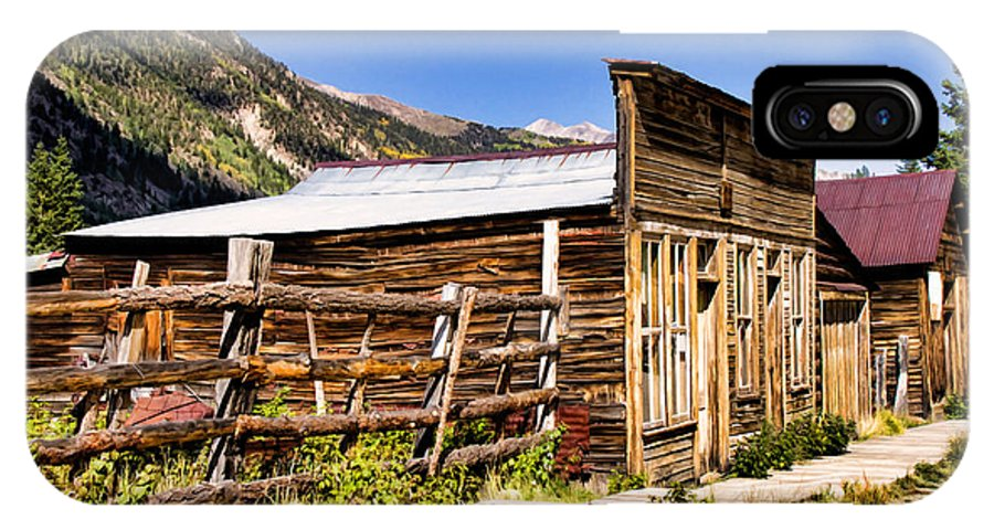 Colorado IPhone X Case featuring the photograph St. Elmo by Lana Trussell