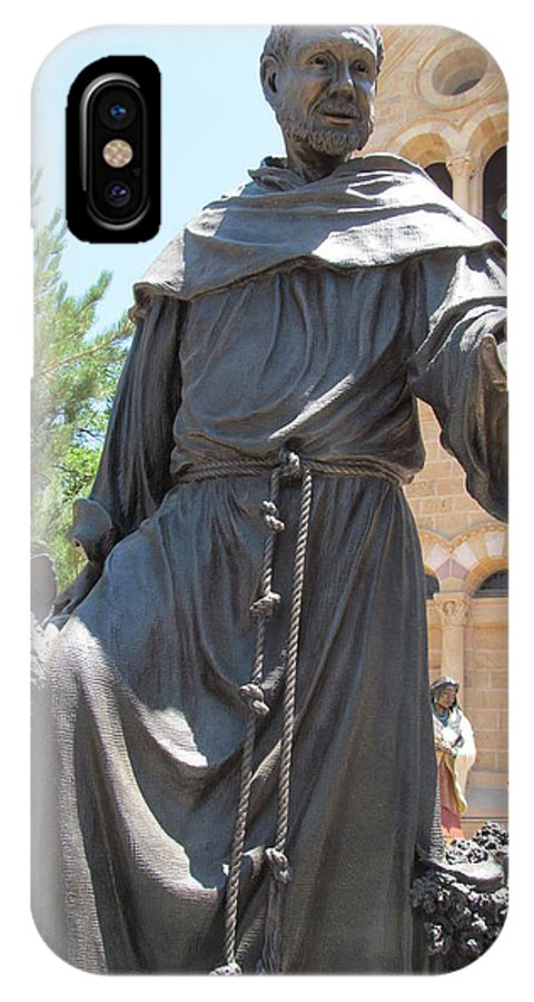 St. Francis IPhone X Case featuring the photograph St. Francis Of Assissi by Brandy Stark