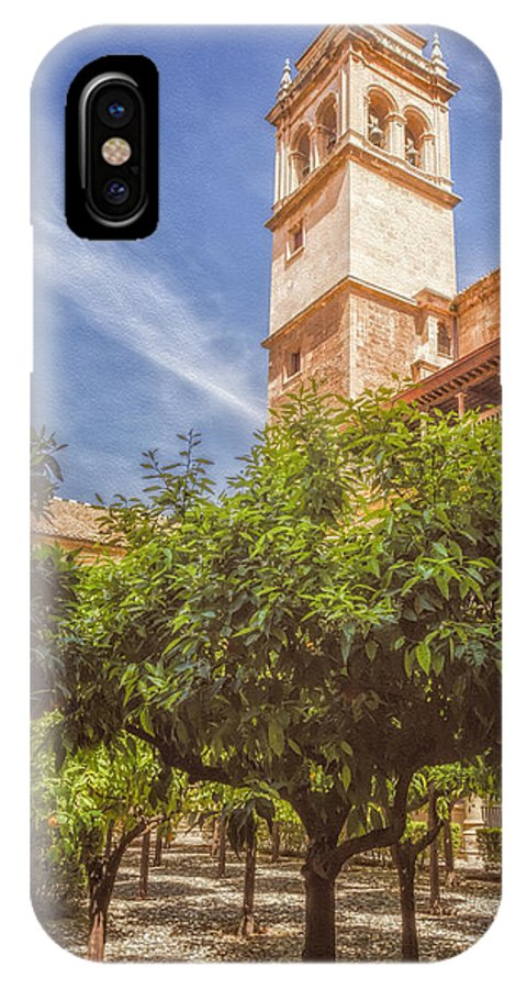 Joan Carroll IPhone X / XS Case featuring the photograph St Jerome Cloister Granada by Joan Carroll