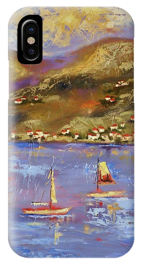 St. John IPhone X Case featuring the painting St. John USVI by Ginger Concepcion