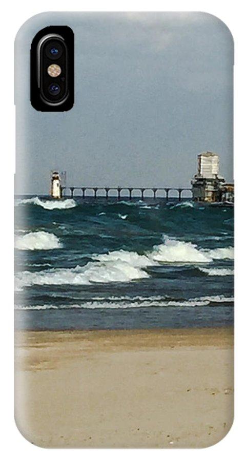 Lighthouse IPhone X Case featuring the photograph St. Joseph Mi Lighthouse by Jennifer Kohler