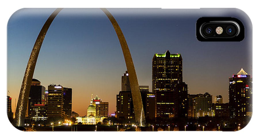 Scenic IPhone X / XS Case featuring the photograph St. Louis Arch by James Menzies