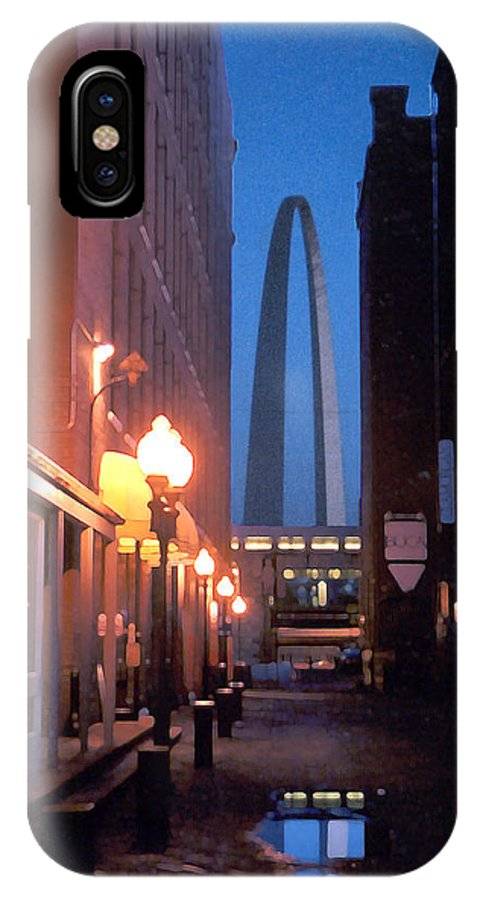 St. Louis IPhone X Case featuring the photograph St. Louis Arch by Steve Karol