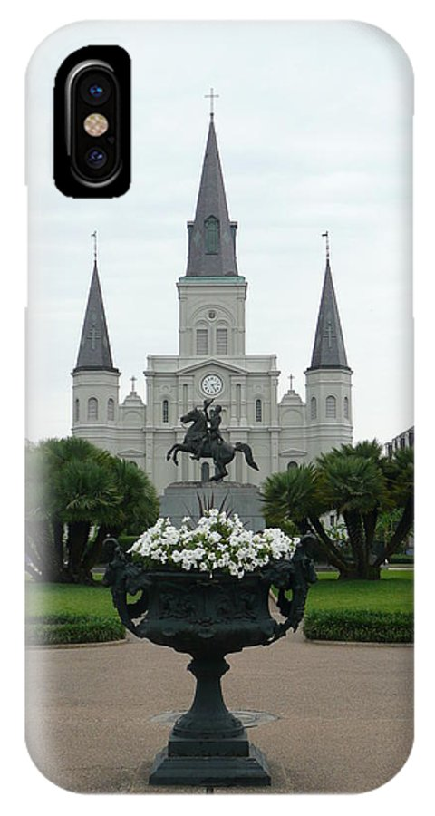 New Orleans IPhone X Case featuring the photograph St. Louis Cathedral New Orleans by Kathy Schumann