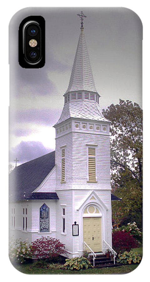 Church IPhone X Case featuring the photograph St. Mathews Chapel In Sugar Hill by Nancy Griswold