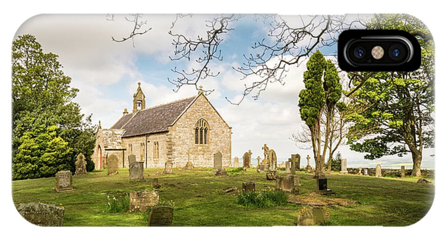 Northumberland IPhone X Case featuring the photograph St Oswald's Church Graveyard by David Head