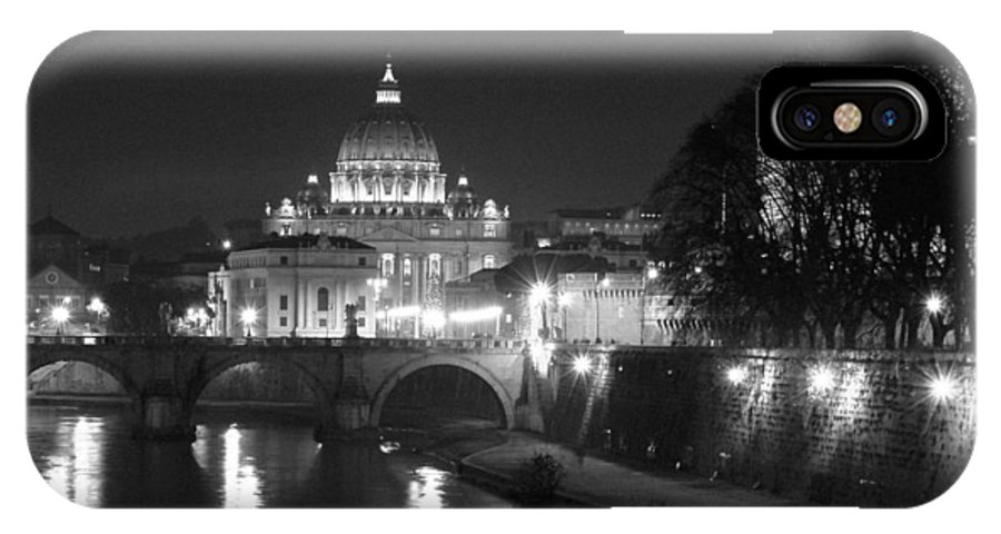 Italy IPhone Case featuring the photograph St. Peters At Night by Donna Corless