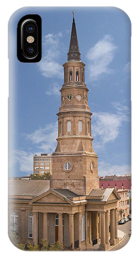 Charleston IPhone X Case featuring the photograph St Philips Episcopal Church by Bill Barber