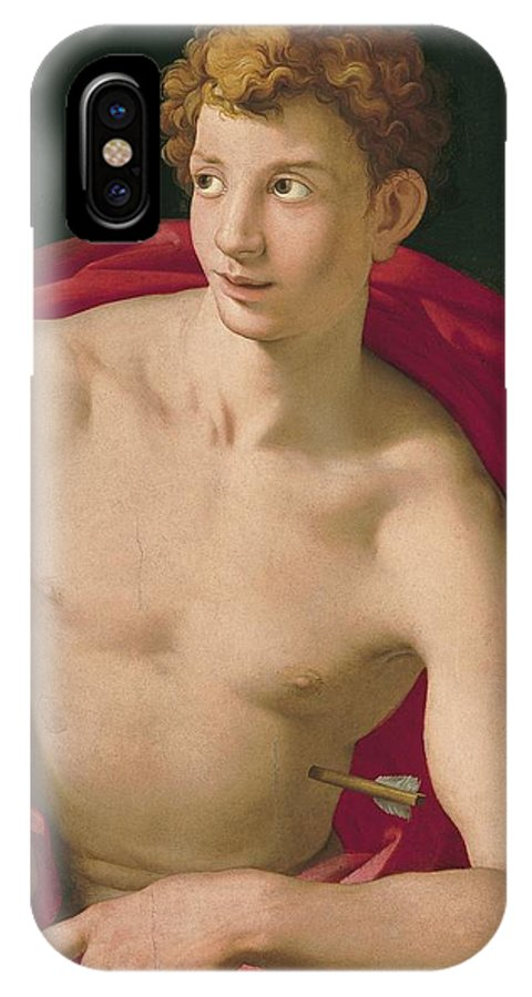 St. Sebastian IPhone X / XS Case featuring the painting St. Sebastian by Celestial Images