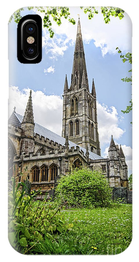 Wulfram IPhone X / XS Case featuring the photograph St Wulfram's Grantham by Steev Stamford