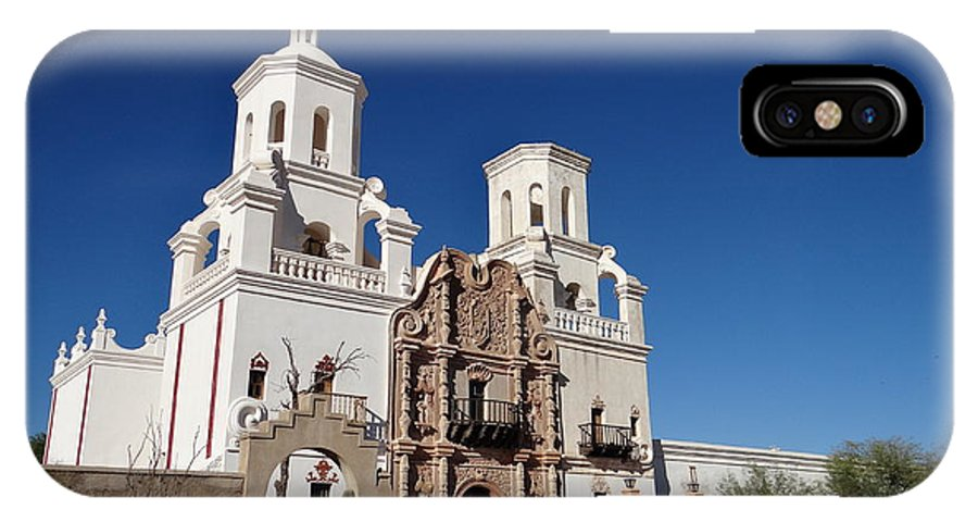 Tuscon IPhone X Case featuring the photograph St. Xavier's Mission by William Moore