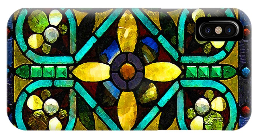 Stained Glass IPhone X Case featuring the photograph Stained Glass 1 by Timothy Bulone