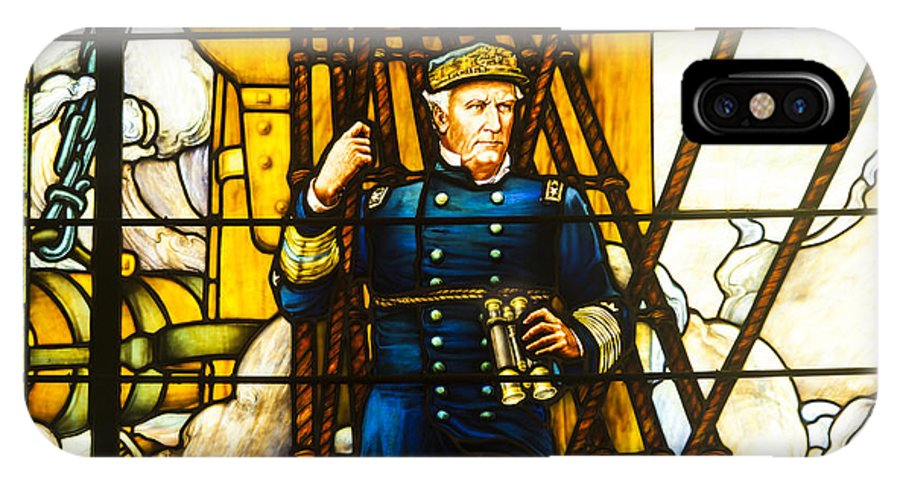 Annapolis IPhone X Case featuring the photograph Stained Glass Window by Richard Nowitz