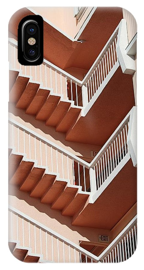 Architecture IPhone Case featuring the photograph Stairs And Rails by Rob Hans