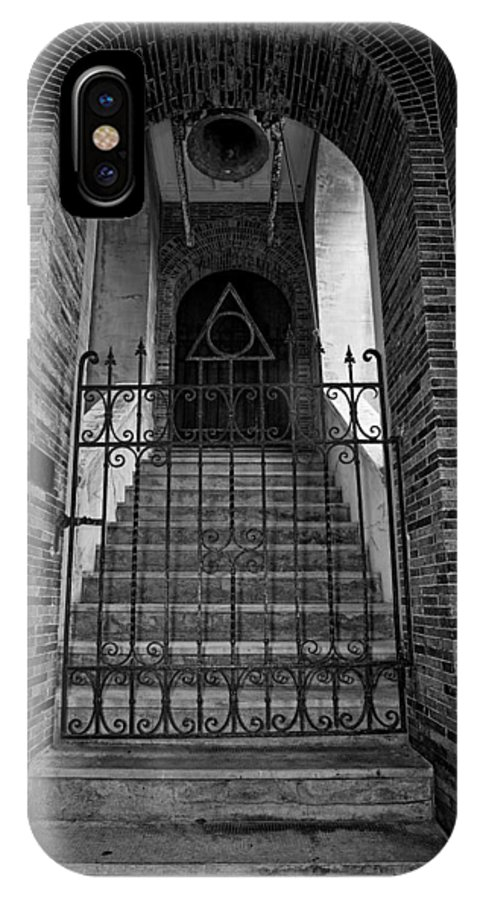 Stairs IPhone X Case featuring the photograph Stairs Beyond B-w by Christopher Holmes