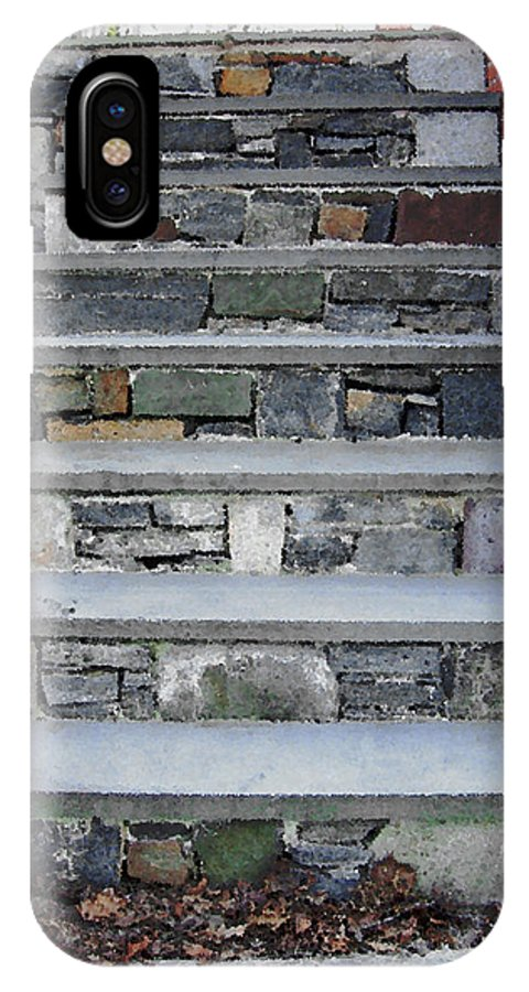 Stairs IPhone X Case featuring the photograph Stairs to the Plague House by RC DeWinter