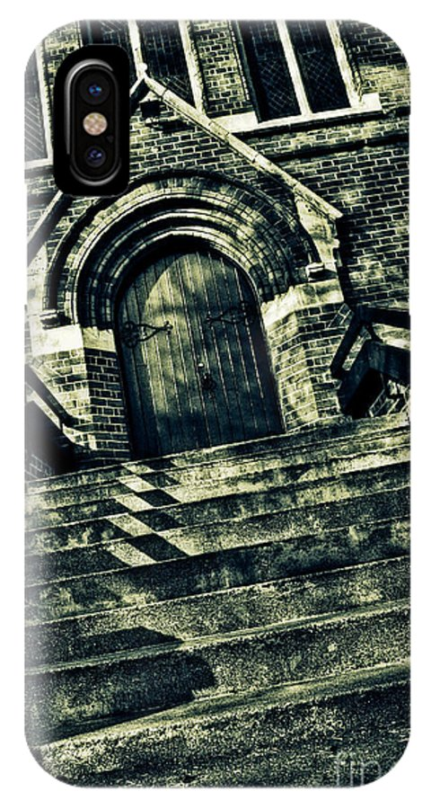 Church IPhone X Case featuring the digital art Stairway To Heaven by Nigel Bangert