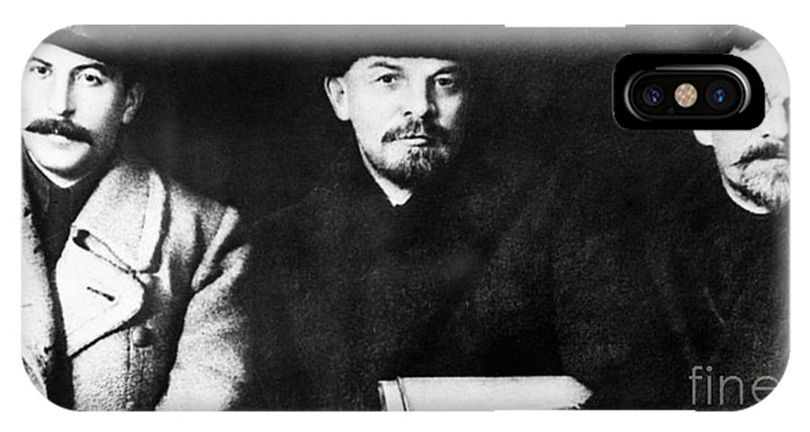 1919 IPhone X Case featuring the photograph Stalin, Lenin & Trotsky by Granger