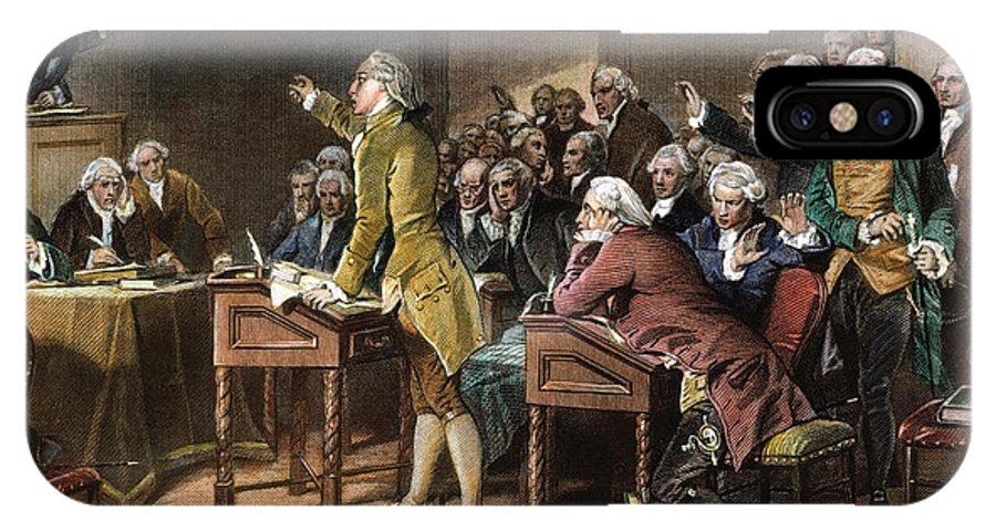 1765 IPhone X Case featuring the photograph Stamp Act: Patrick Henry by Granger