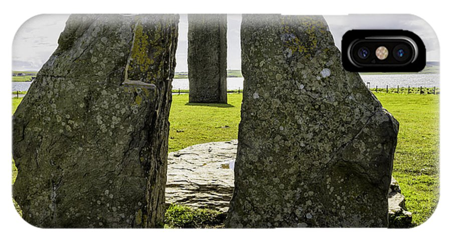 Stenness IPhone X Case featuring the photograph Standing Stones Of Stenness by Fran Gallogly