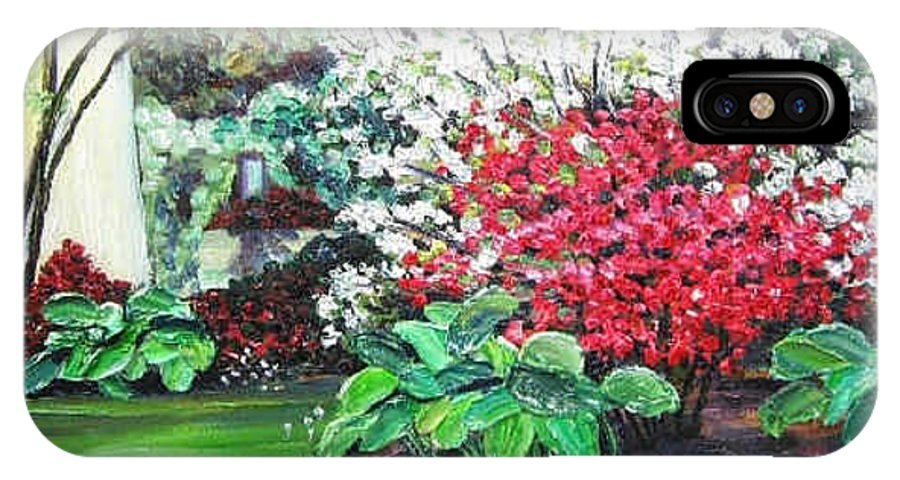 Blossoms IPhone Case featuring the painting Stanely Park Blossoms by Richard Nowak