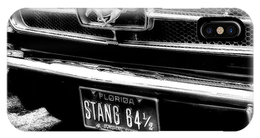 Mustang IPhone X Case featuring the photograph Stang by Kenneth Krolikowski