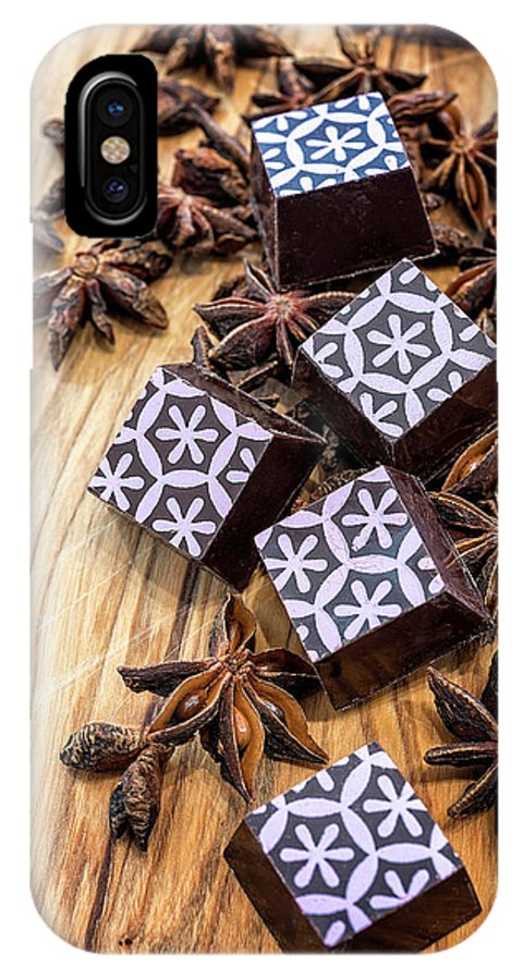 Chocolate IPhone X Case featuring the photograph Star Anise Chocolate by Sabine Edrissi