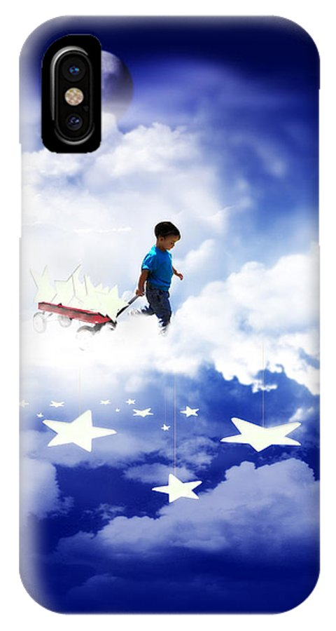 Stars IPhone X Case featuring the mixed media Star Boy by Gravityx9 Designs