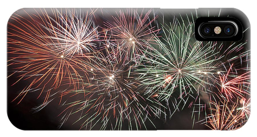 Fireworks IPhone X Case featuring the photograph Star Spangled Night by Glenn Gordon