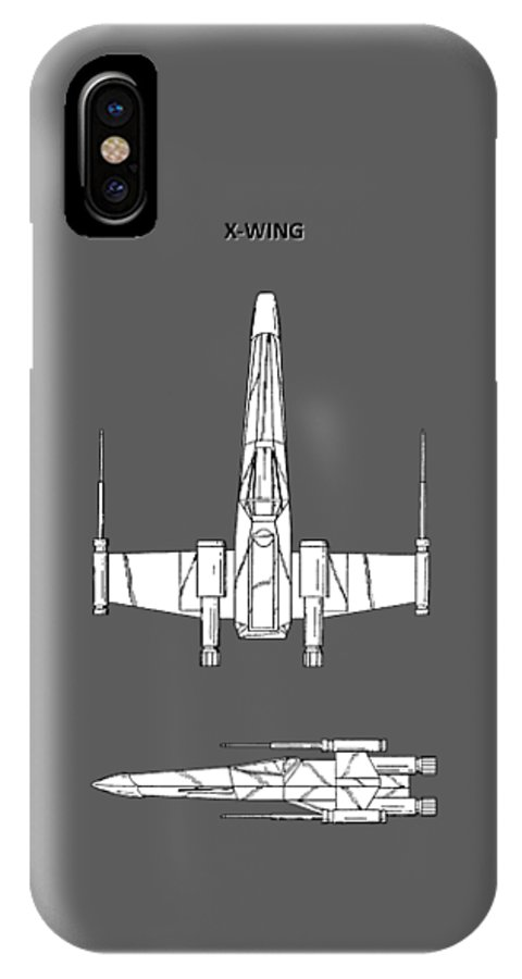 X-wing IPhone X Case featuring the photograph Star Wars X-wing Fighter by Mark Rogan