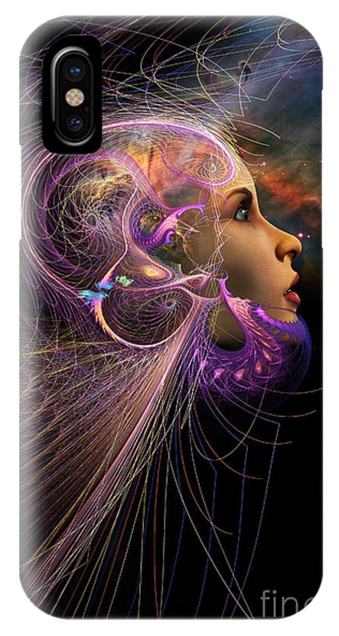 Starchild IPhone X Case featuring the digital art Starborn by John Edwards