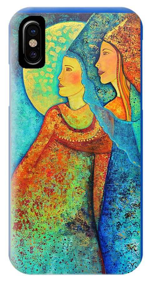 Starchild IPhone X Case featuring the painting Starchild by Jeanett Rotter